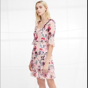 NWT French Connection Linosa Crinkle Tier Dress